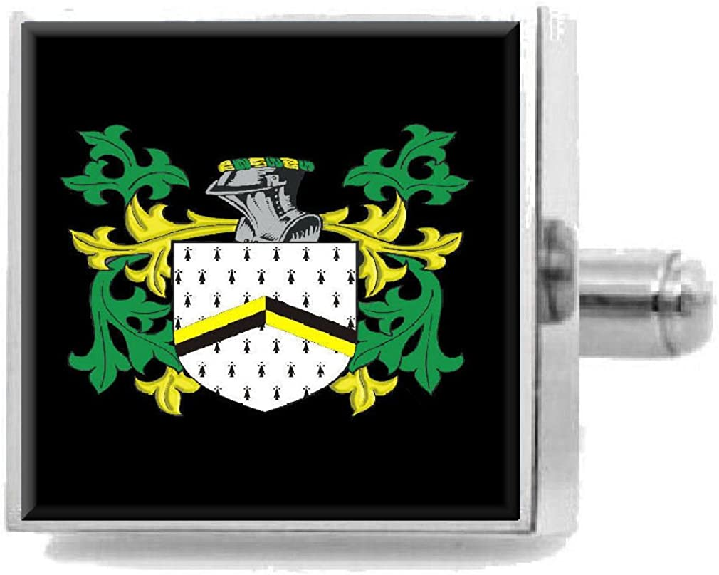 Select Gifts Edmond England Heraldry Crest Sterling Silver Cufflinks Engraved Message Box