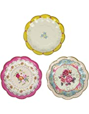 Talking Tables Truly Scrumptious Tea Party Plates for Parties for Parties, Mixed