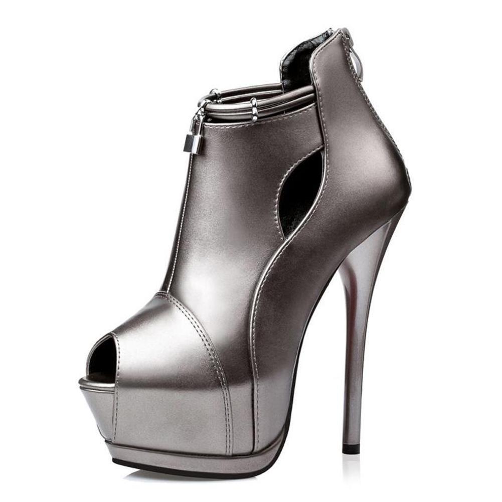 Chaussures à 14cm Talons Hauts Chaussure Fine Pour Femmes Chaussure éTanche à Lacets 14cm Sandales à Bouche Fine A bb3bd4d - deadsea.space