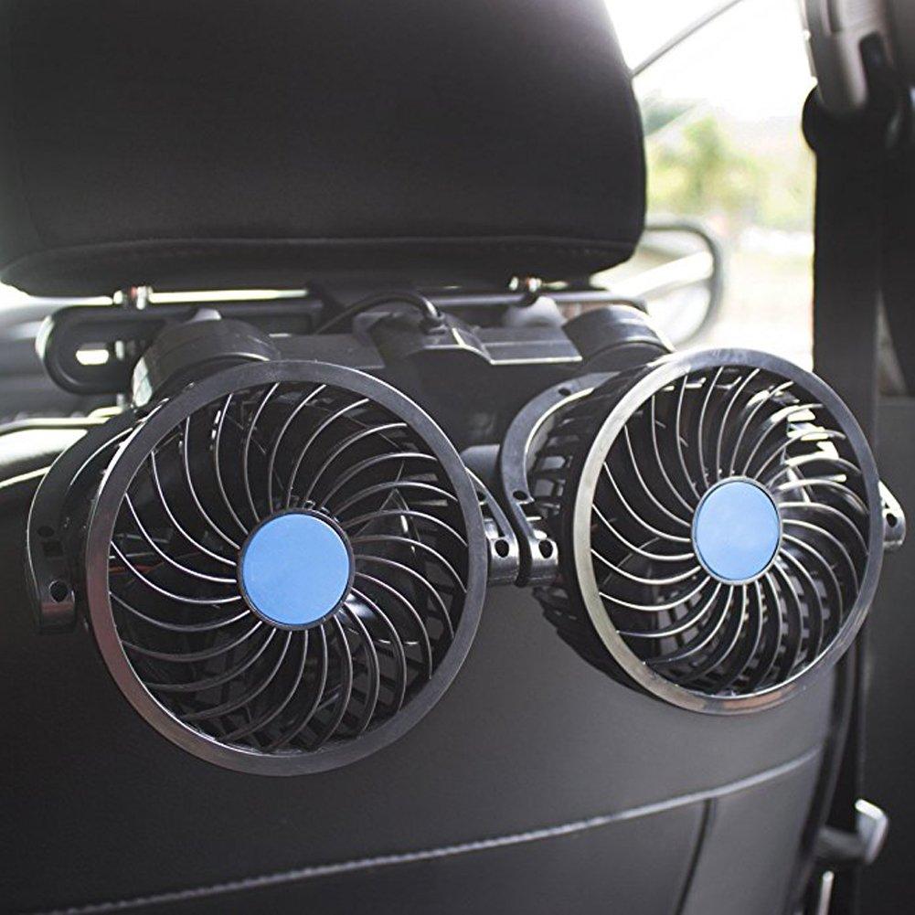 Auto-, Auto-Ventilator, 12 V, 360 Grad drehbar, verstellbar, fü r Rü ckbank, fü r Limousine SUV, Wohnmobil, Boot ASAND-H
