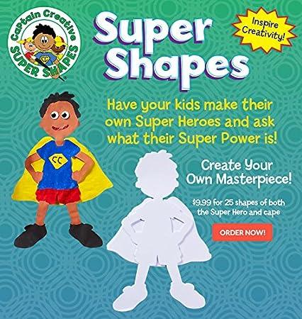 CC2019 Pack of 25 Inc Captain Creative Super Shapes Super Hero
