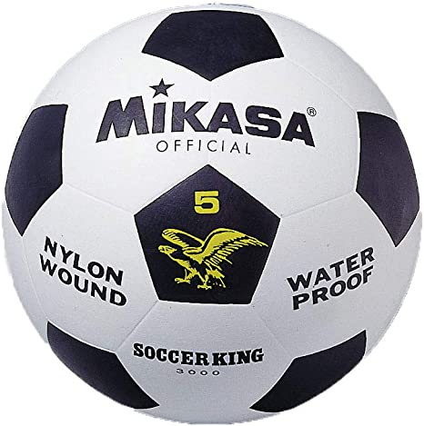 MIKASA 3000 - Balón de fútbol, Color Blanco/Negro, Talla 5: Amazon ...