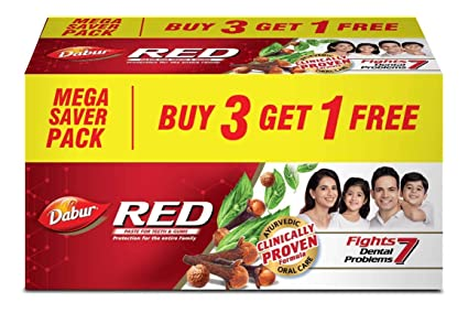 Dabur Red Paste - 600 g (Buy 3 Get 1 Free): Amazon.in: Amazon Pantry