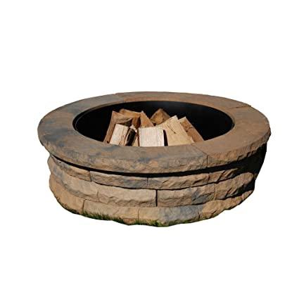 Amazon.com: Nantucket Pavers 72004 Concrete Ledgestone Fire Pit Kit,  47 1/4 Inch By 14 Inch, Tan Variegated: Garden U0026 Outdoor