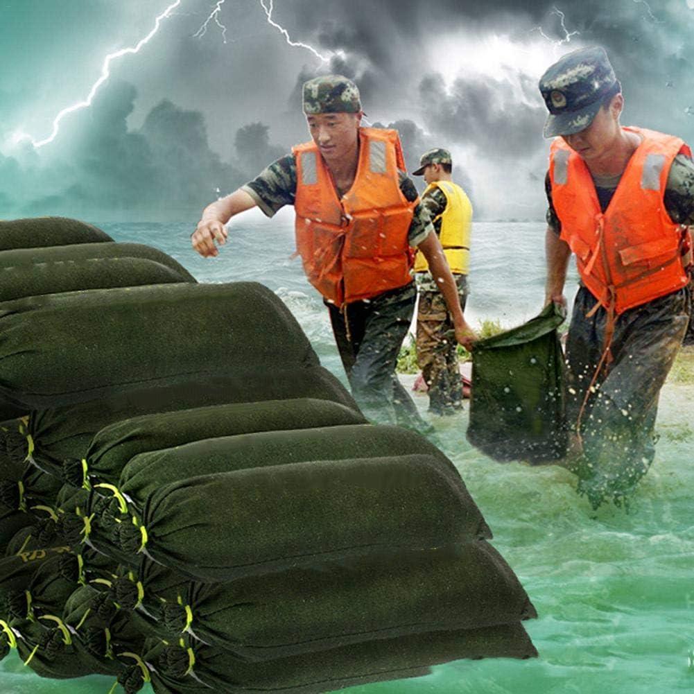 Maliyaw Saco de Arena Engrosado de Lona con Lazos de Cierre de cord/ón Saco de Arena Resistente a Las inundaciones