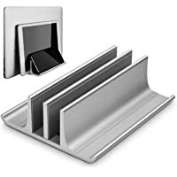 Geecol Double Adjustable Vertical Laptop Stand- Updated Version 2 Slot Aluminum Desktop Dual Holder for All MacBook…