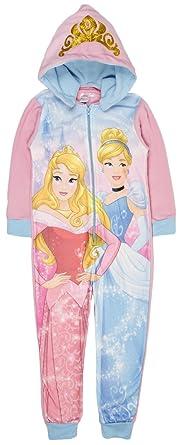 4f0a8c1571 Disney Princess Fleece Onesie Reversible Hood Pyjamas All In One Girls Pjs  Size UK 4-