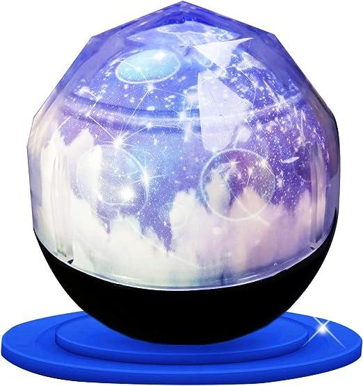 Proyector giratorio del cosmos,luz de noche aumentada Lámpara de ...