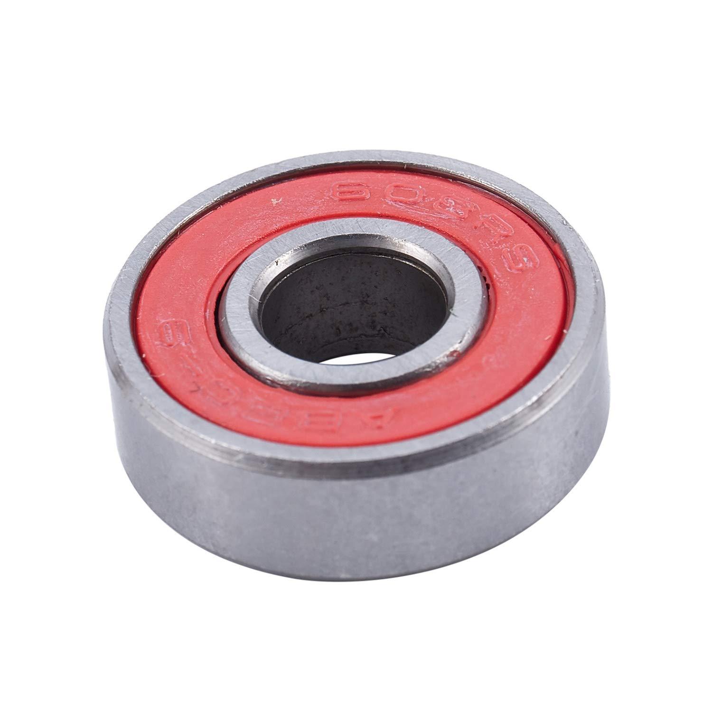 Gaoominy bec 9 Rodamientos Tabla De Skate Longboard Rojo Plata 1 Juego De 8