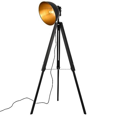 lux.pro] Lámpara de pie Passau diseño Industrial 135 x 60 x Ø30 cm ...