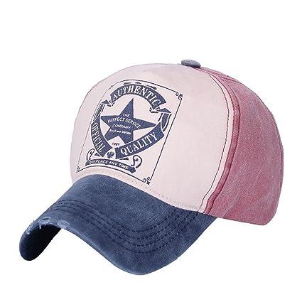 0eb019eb59eb1 Amazon.com  Botrong Men Women Vintage Star Snapback Baseball Ball Cap  Outdoor Sports Hats Adjustable (C)  Arts