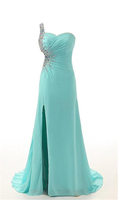 SimpleDressUK Women's Long Chiffon Beading Sequins Evening Prom Dresses