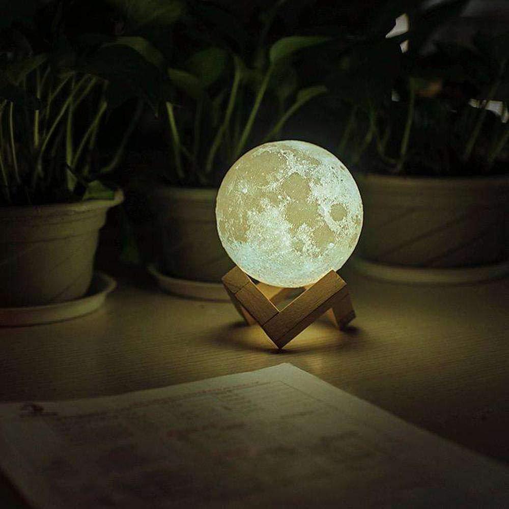 Proyector de estrellas Lámpara de luna con impresión 3D Cambio de ...