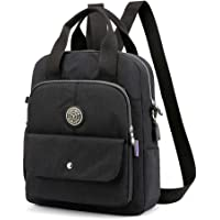Unisex Backpack Purse with USB Charging Port Anti-Theft Crossbody Shoulder Bag