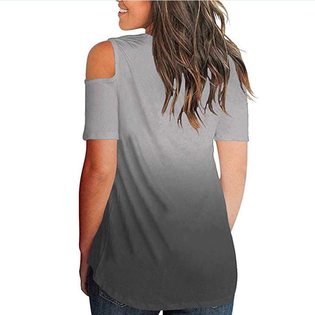 TOPKEAL Maglietta Casual Estiva da Donna a Manica Corta con Scollo a V Tops Mezza Manica T Shirt Mezza Manica 2019