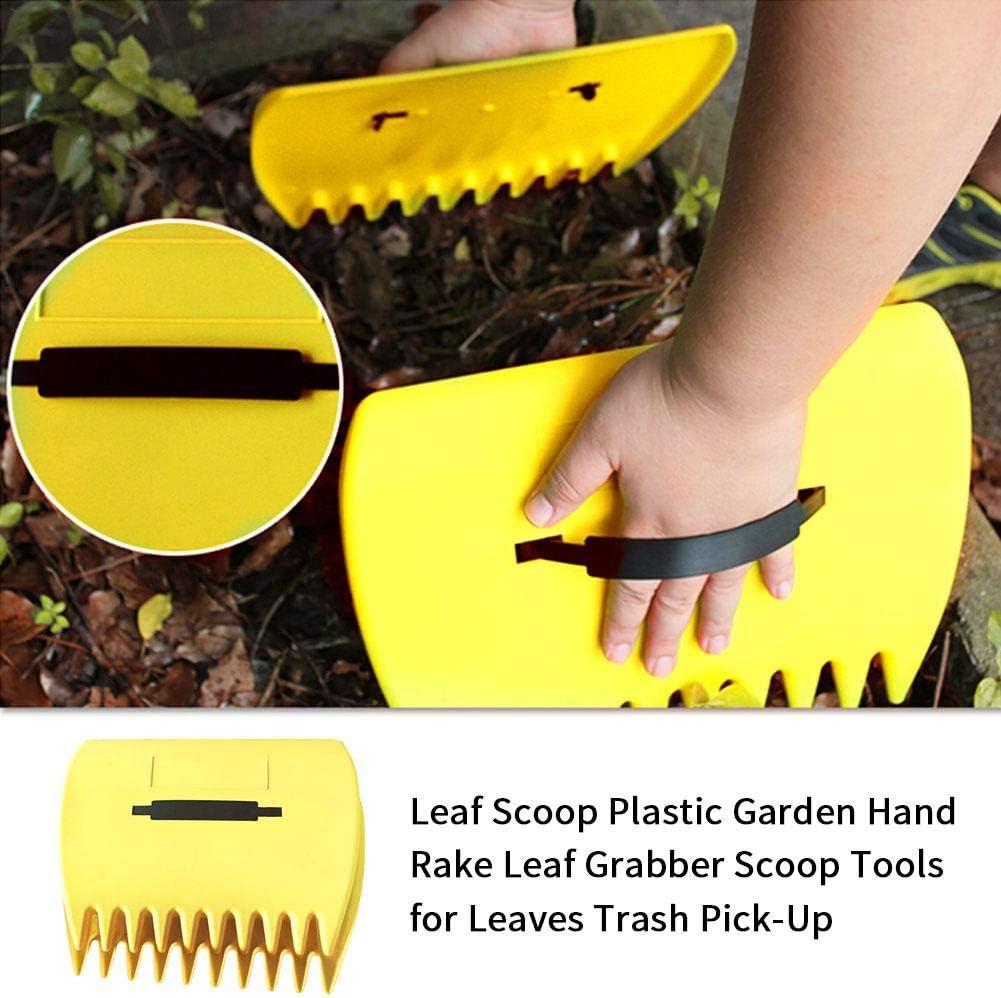 Basage Black Nonslip Handle Metal Head Lawn Garden Rake Hand Tool 12.1