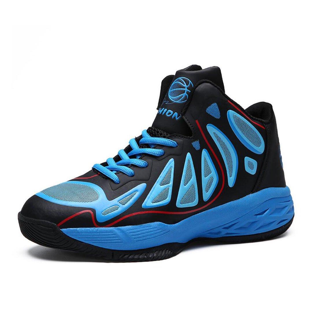 New Zapatillas de Deporte para Hombre 2018 Four Seasons New Mens Zapatillas de Deporte al Aire Libre Zapatillas de Alto auxilio con Balón Botas Cortas de Vestir EU Size 40 EU Azul
