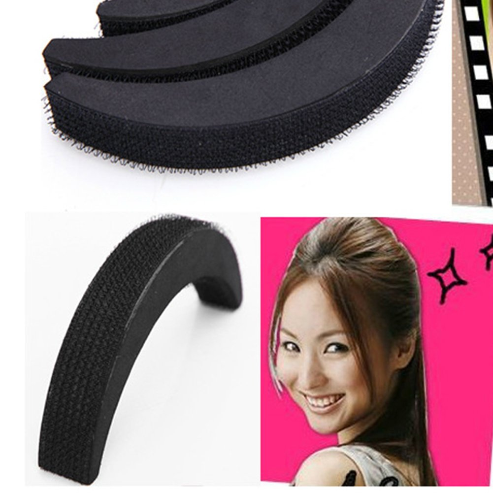 3pcs Elegant Hair Base Bump Insertion Tool Styling Volume Princess Styling Crescent Modelling Hair Paste Sponge Pad Hair Accessories Alician