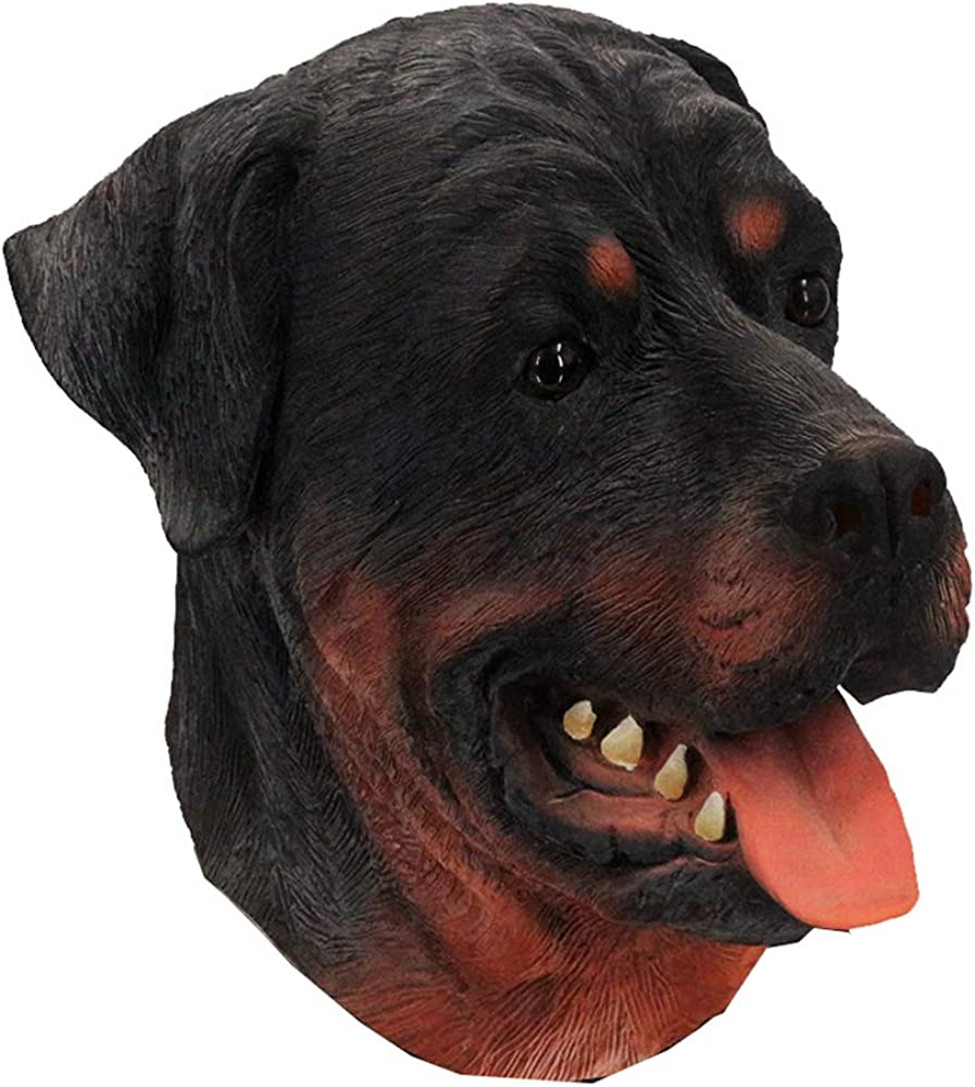 Latex Animal Dog Mask, Rottweiler Mask Halloween Costume Party Latex Mask