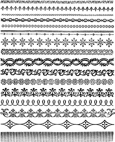 Tim Holtz Stamper's Anonymous Cling Stamps, Ornate Trims