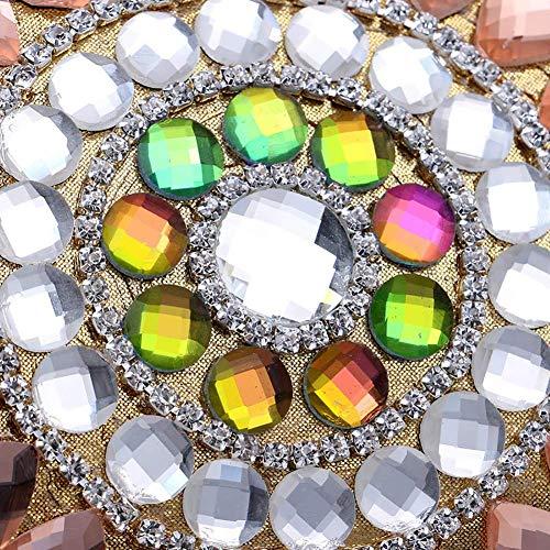 Hombro Tarjeta Gema Las Bolsos Bolso Mujeres Cristal Crossbody Mano Rhinestone Señora Noche Paquete Cartera Mindruer Cuero De Embrague Gold La Brillante qwBvZT0X
