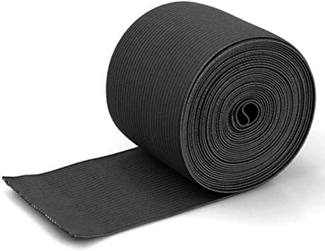 3//4 Inch Wide Heavy Stretch High Elasticity Knit Elastic Band 5 Yard Black and 5 Yard White