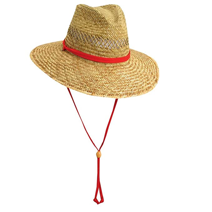 aa42fe154e3bb Dorfman Pacific Cedar Key Rush Straw Lifeguard Sun Hat (Medium