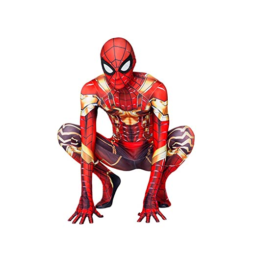 KOUYNHK Niños Adultos Iron Spider Man Cosplay Zentai Spiderman ...