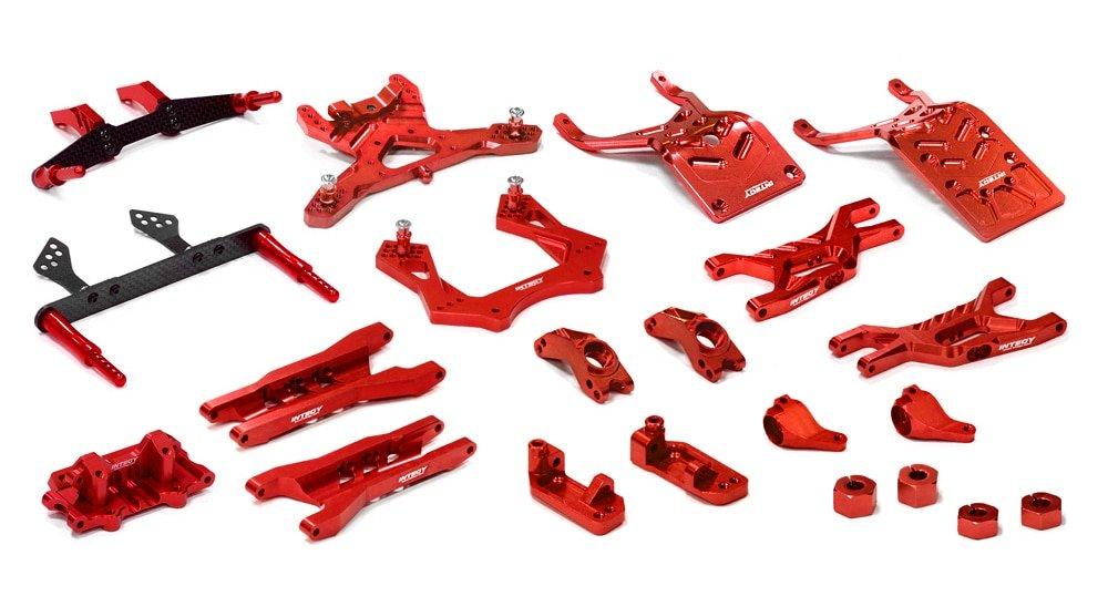 hasta 42% de descuento INTEGY T8651RED RC Model Hop-ups - Kit de de de suspensión completo para sello 1/10 2WD  Más asequible