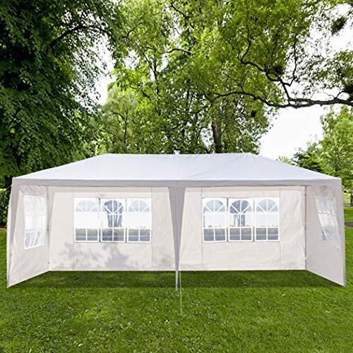 Meoket 118 inch x 236 inch Portable Folding Canopy Wedding BBQ Party Tent with Spiral Tubes, Waterproof Sun Shade UV Protection Cover Tent