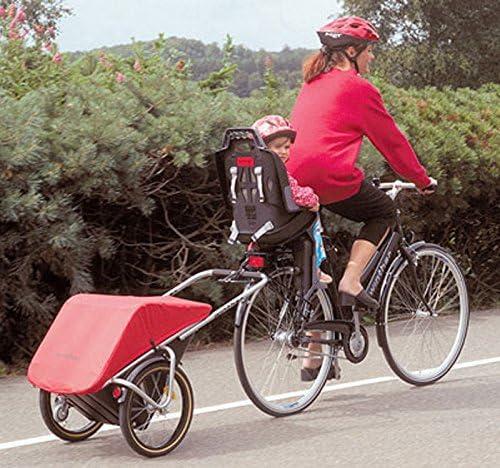 Weber-M-Kupplung Stauraum: 65 Liter //Zuladung: 40 kg // inkl Winther Donkey Classic rot der praktische Anh/änger f/ür`s Fahrrad f/ür eBikes