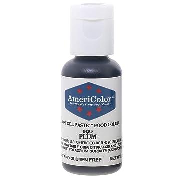 Food Coloring AmeriColor Plum Soft Gel Paste .75 Ounce
