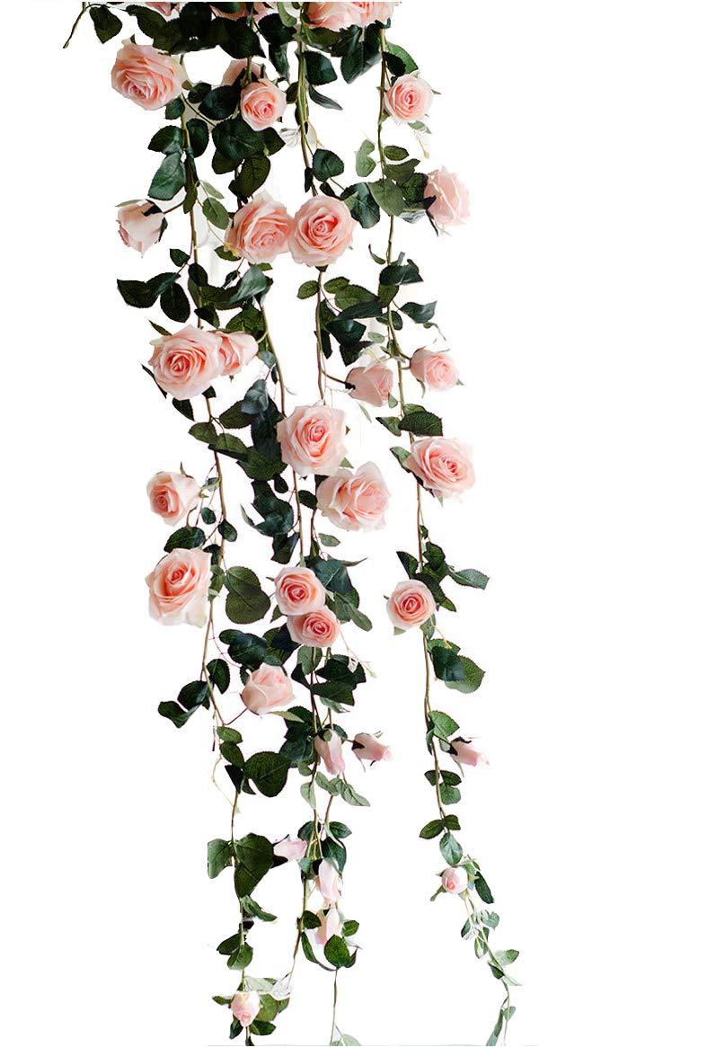 Artificial 72 Cherry Blossom Silk Flower Bouquet Sakura Floral Deco Orange