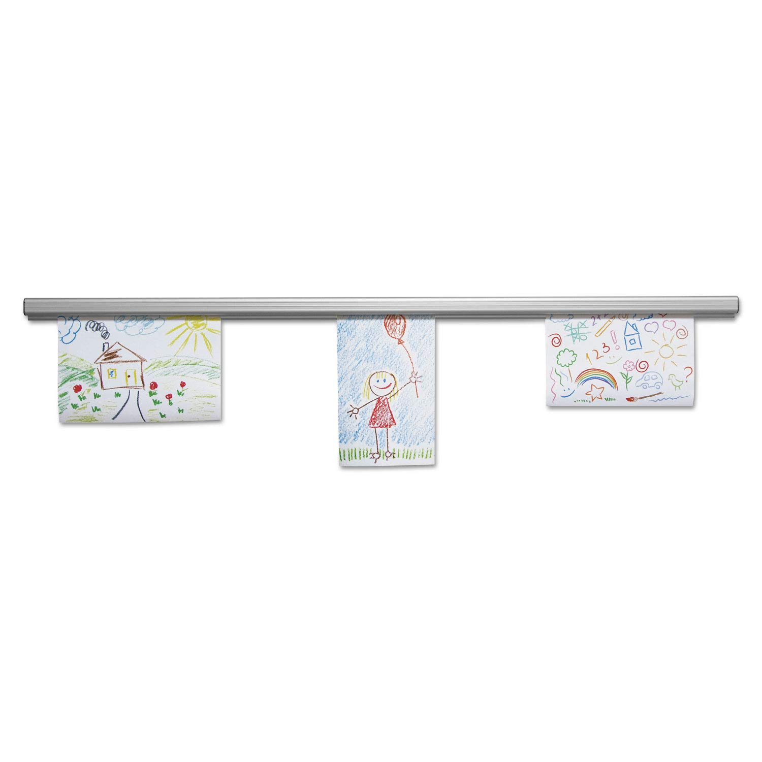 Advantus 2010 Grip-A-Strip Display Rail, 48 x 1 1/2, Aluminum Finish
