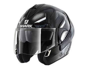 Shark Moto Casco Hark – Evoline 3 shazer, Negro/Blanco, tamaño M