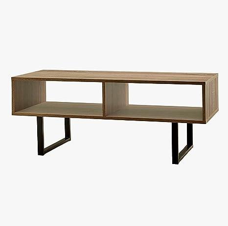 Amazon.com: Rectangular Couch Table Sofa Grey Coffee Wood ...