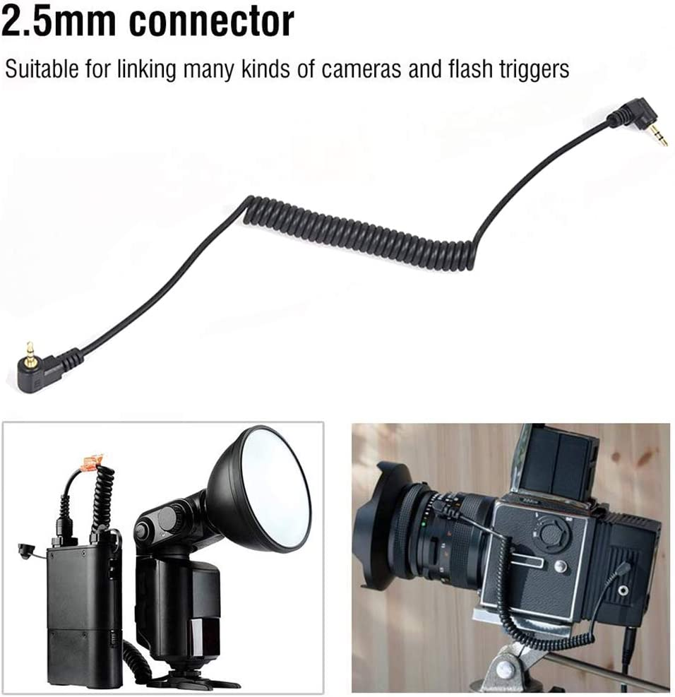2.5mm-C1 Remote Control Shutter Release Cable Cord Compatible with for Canon EOS 700D 650D 600D 550D 500D 1100D 80D 70D 60D// SL3 T6i T6S T5 T5i T4i T3i T3 T2i XT XTi XSi SL2// PowerShot G16 G10 G5 X