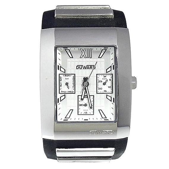 Reloj Duward Unisex D8701111 Rectangular multifunción [3236] - Modelo: D8701111