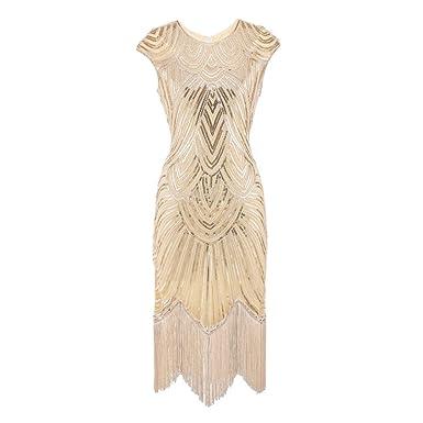 Frauen Quaste Prom Kleider VENMO Perlen Art Nouveau Deco Flapper Kleid  Pailletten Fransen Troddel 1920s Flapper fa9ba5215e