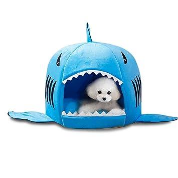 Pet Warm Soft Sleeping Bag perro de tiburón perro de la perrera de cama Casa (