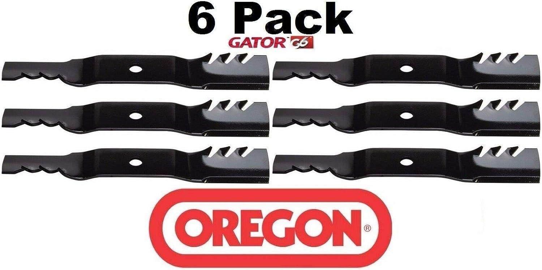 "6 Pack Oregon 396-812 G6 Gator Blade Fits Kubota K5617-34330 K5619-34350 54/"""