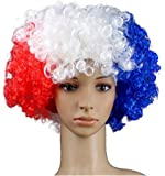 SMLRO 2018 Coupe Du Monde De Foot Russie Fans Perruque Mondial Football Drapeau National Couleur Football Carnaval Party Cabaret Faux Cheveux (Français)