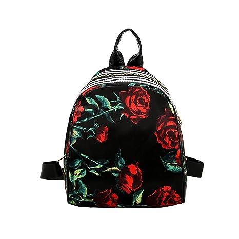 Widewing Mochilas mujer guess Las mujeres florecen las mochilas de la impresión floral Las muchachas del