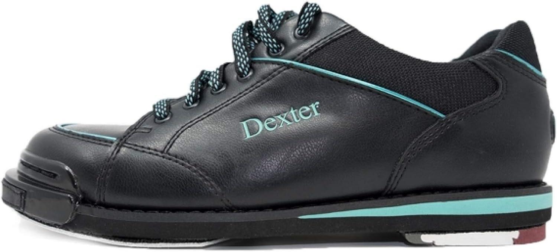 EMAX Bowling Service GmbH MAXIMIZE YOUR GAME Dexter SST 8 Pro und Linksh/änder Schwarz//T/ürkis Bowlingschuhe f/ür Damen mit Wechselsohle f/ür Rechts