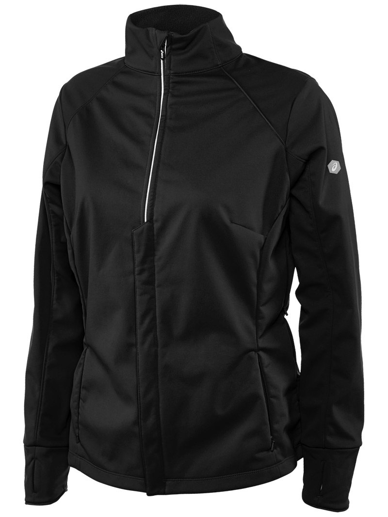 ASICS Womens Softshell Jacket, Performance Black, X-Small