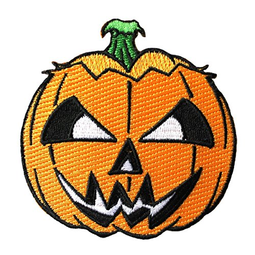 Scary Jack-O-Lantern Patch Kreepsville Halloween Pumpkin Craft Iron-On Applique -
