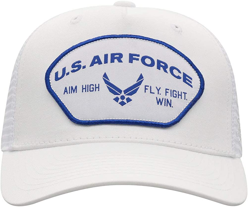Elite Fan Shop Military White Snap Back Hat