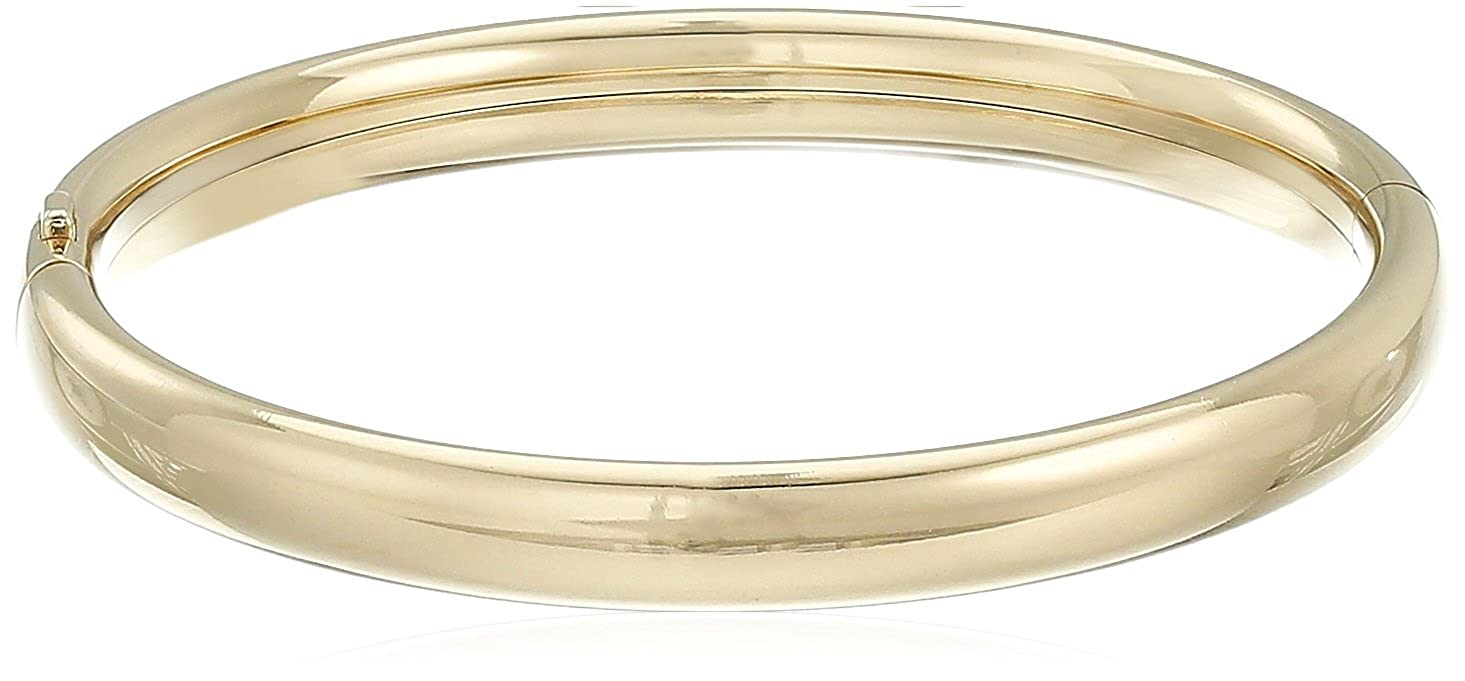 Children's 14k Yellow Gold-Filled Polished Bangle Bracelet Amazon Collection AMZ058