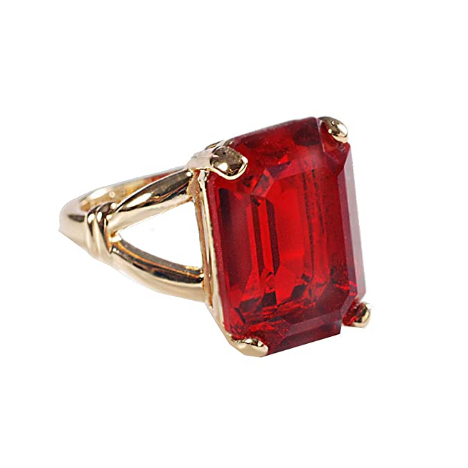 Vintage Style Jewelry, Retro Jewelry Sweet Romance Elviras Magic Ruby Ring $65.00 AT vintagedancer.com