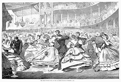 Russian Visit 1863 Nthe Great Russian Ball At The Academy Of Music During The Russian FleetS Visit To New York In 1863 In The Middle Of The American Civil War - Homer Winslow Engravings